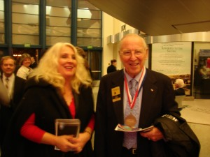 Sandy Eulitt with Jim Lovell